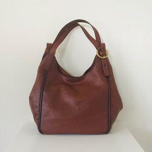 Frye Cognac Leather Madison Shoulder  Handbag New